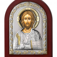 Icoana Argint Iisus Hristos 6x8.5cm Cod Produs 2723