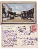 Bacau - Strada Centrala-masina epoca, rara, Circulata, Printata