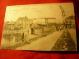 Ilustrata Olanda 1900 - Podul mobil Rijswijk ,circ. la Bucuresti