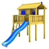 Spatiu de joaca Playhouse si platform XL cu tobogan 3 m JungleGym