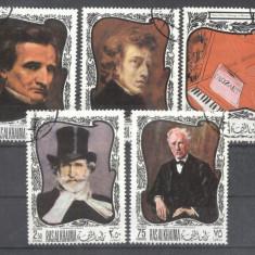 Ras Al Khaima 1969 Composers on paintings used DE.150