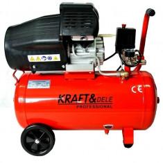 Compresor 50 L -2 pistoane -2,2 kw- 3 CP -KD1471-KRAFTPROFESIONAL