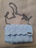 Poseta albastru crosetata