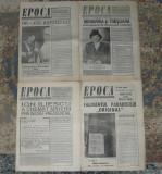 ziar Epoca, anul II din 1991,4 numere= 40 lei,ziare dupa Revolutie anii 90