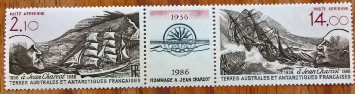 TAAF-(Antartica Fr.)-1986-P.A''Navigator polar-J. CHARCOT'''-(Yv.84A=8,4e)-MNH
