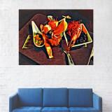 Tablou Canvas, Pictura Artistica, Masa cu Obiecte - 20 x 25 cm