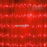 Perdea Luminoasa Ploaie Prelungibila 6x3m 960LED Rosie Ext.FN 6020