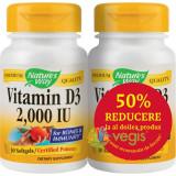 Vitamina D3 2000ui (Adulti) 30cps Pachet 1+1-50% Gratis
