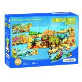 Set 4 puzzle-uri de podea Dino Beleduc, 4 x 10 piese