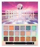 Cumpara ieftin Paleta Profesionala de Farduri W7 Total Eclipse Pigment Palette, 18 Culori, 18 g