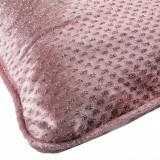Perna decorativa, model roz cu fire argintii, 47x30x9 cm