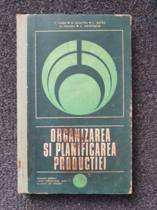 ORGANIZAREA SI PLANIFICAREA PRODUCTIEI Manual anul V - Vagu