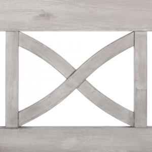 Banca Eternal Innocence, lemn masiv de salcam, gri, 120cm