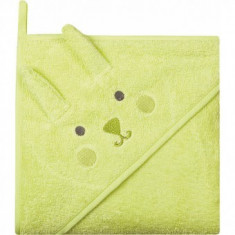 Prosop de baie cu gluga imprimeu animal 80 x 80 cm Womar Zaffiro Verde