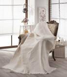 Cuvertura pentru canapea Ham, Eponj Home, 336EPJ0402, bumbac organic, 180 x 230 cm, Crem