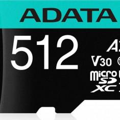 Card de memorie ADATA V30S 512GB Premier Pro MicroSDXC Clasa 10 UHS-I U3 + Adaptor SD