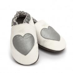 Pantofi cu talpa moale Liliputi Silver Love