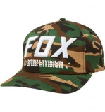 FOX TRIPLE THREAT FLEXFIT HAT [GRN CAM]