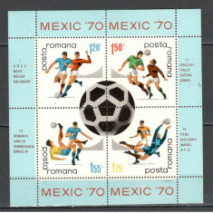 Romania.1970 C.M. de fotbal MEXIC-bloc  HR.164