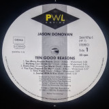 Jason Donovan - Ten Good Reasons (1989, PWL) Disc vinil LP original