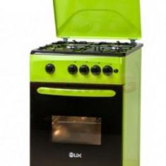 Aragaz LDK 5060 A Green LPG, 4 Arzatoare, Aprindere electrica, 50cm, Verde