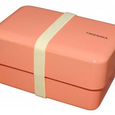 Cutie pentru pranz - Bento Box Rectangle - Coral | Takenaka