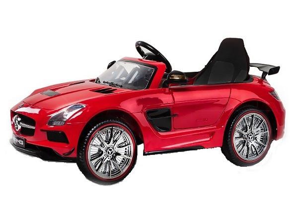 Masinuta electrica pentru copii Mercedes SLS AMG, Scaun tapitat #Rosu