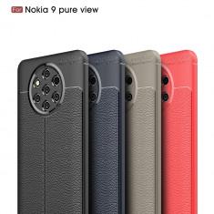 Husa / Bumper Antisoc model PIELE pentru Nokia 9 PureView