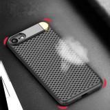 Husa din PC cu plasa metalica si suport, pentru iPhone X/8P/7P/8/7