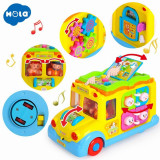 Jucarie interactiva cu sunete si lumini - Autobuzul scolar - Hola Toys