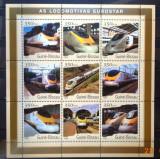 GUINEA-BISSAU 2001 - LOCOMOTIVE EUROSTAR. BLOC MNH, DG10