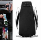 Suport Auto INCARCATOR auto WIRELESS suport telefon Fast Charge, NOU