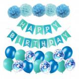 Set 21 baloane si accesorii pentru petrecere, aniversare HAPPY BIRTHDAY, Oem