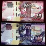 LOT SET KENYA 50 + 100 SHILLINGS 2019 UNC **