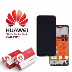 Display Huawei P20 Lite 2018 Cu Rama Si Baterie Original Negru