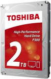 HDD Desktop Toshiba P300, 2TB, SATA III 600, 64MB Buffer, Bulk