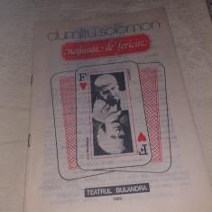 """PROGRAM TEATRUL BULANDRA 1985 SPECTACOL """"NOTIUNEA DE FERICIRE"""""""
