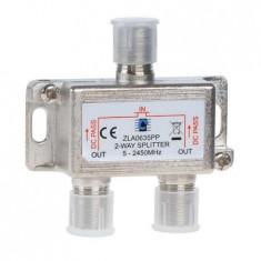 Splitter 2 cai 5-2450 mhz power pass