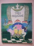 IURII KARLOVICI OLESA - TREI GRASANI ( ilustratii G. Kalausin ) - 1962