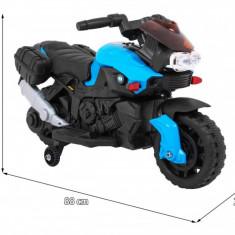Motocicleta electrica SmartBike, negru cu albastru