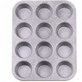 Cumpara ieftin Forma copt muffin, ZEPHYR Red Passion ZP 1223 EG, 12 briose, Invelis Marmura, Rosu