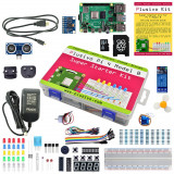 Kit Plusivo Pi 4 Super Starter cu Raspberry Pi 4 cu 4 GB RAM si card NOOBs de 16 GB