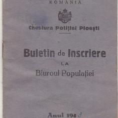 bnk div - Chestura politiei Ploiesti 1943 - Buletin