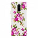 Cumpara ieftin Carcasa Husa Samsung Galaxy A6 2018 Model Roses, Fosforescent, Antisoc + Folie sticla securizata Samsung Galaxy A6 2018 Tempered Glass Viceversa