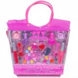 Trusa de machiaj pentru fetite, model geanta, multicolor