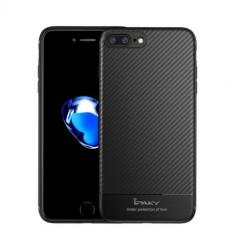 Husa iPhone 7 Plus - iPaky Carbon Fiber Black