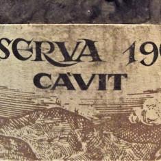 B 18- VIN 4 VICARIATI, RISERVA CAVIT, recoltare 1969 cl 68 gr 12