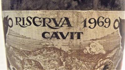 B 18- VIN 4 VICARIATI, RISERVA CAVIT, recoltare 1969 cl 68 gr 12 foto
