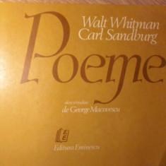 POEME - WALT WHITMAN, CARL SANDBURG
