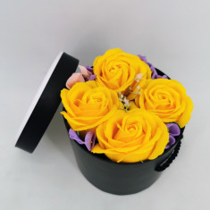 Set cadou Trandafiri sapun